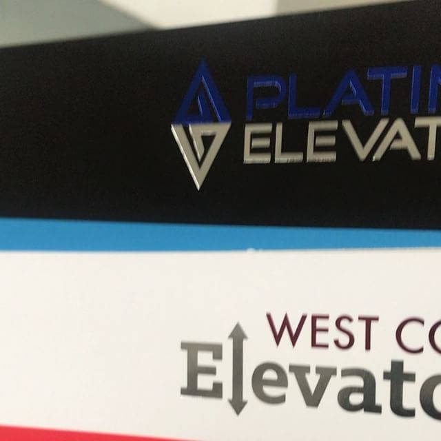 Super cool foiling for West Coast and Platinum Elevators!😍😍