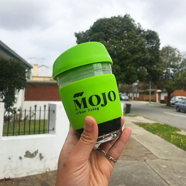Cute little keep cup that one of our clients MOJO got made! Logo by us 💃