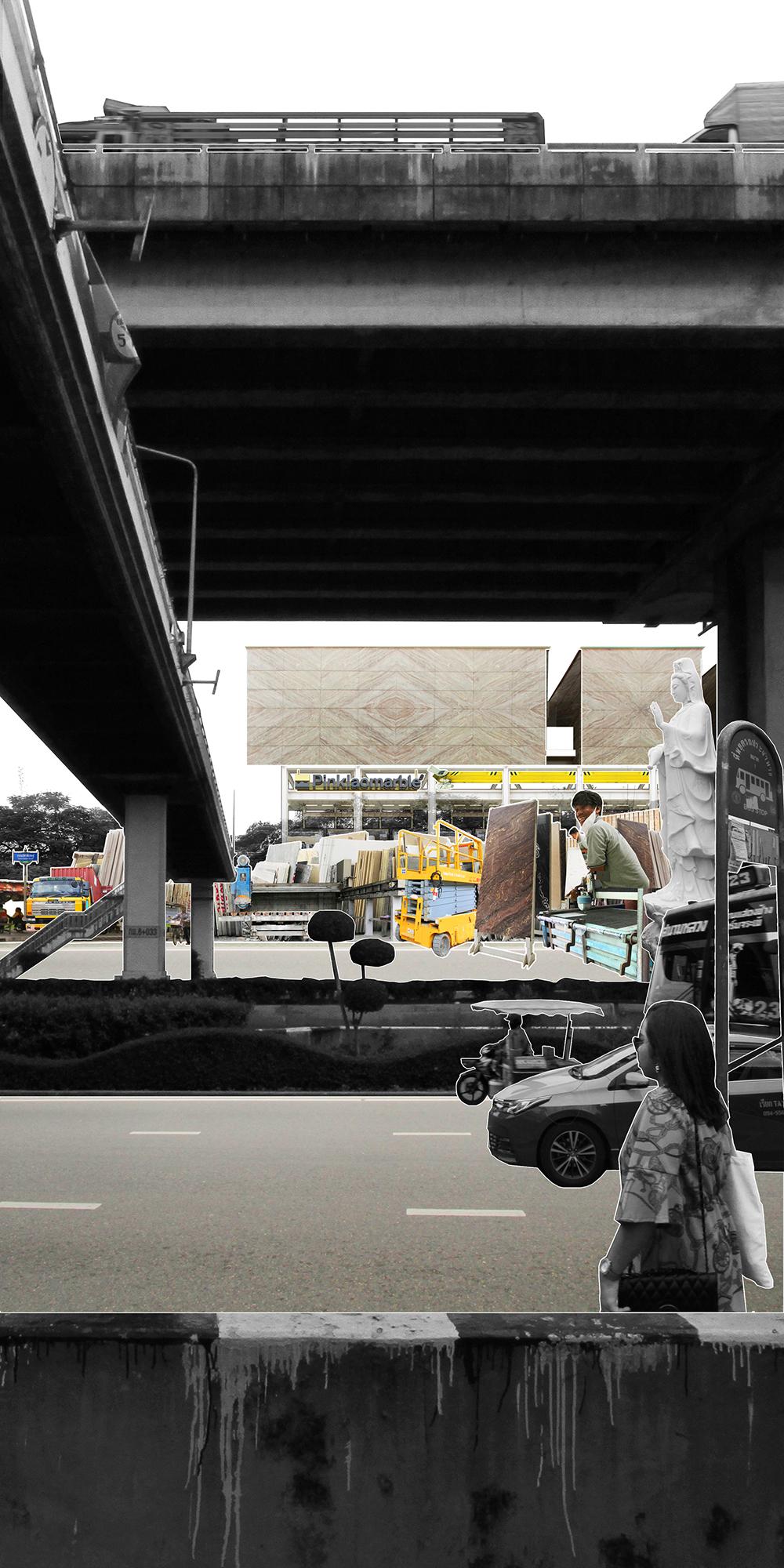 Pinklao Marble and Granite Headquarters - Location: Bangkok, ThailandClient: Watchara PruksananontYear: 2015-2018Status: ConstructionProgram: Showroom, Office, Residential / 600m²Role: ArchitectPhotographer: Ketsiree Wongwan