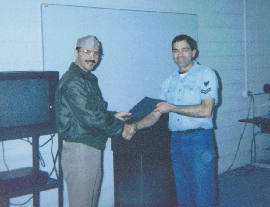 Cdr Tzitzura, CO, NR CV-62 Aug Unit Awards Ceremony- 1994