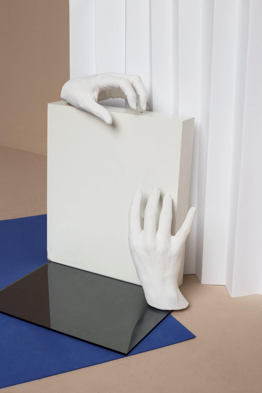 Plaster Hands  Set: La Cueva Studio & Marcela Luna  Photo: Erika Anes