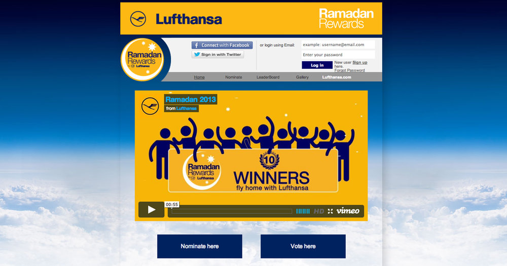 "Lufthansa Ramadan Rewards - By creating a fully-digital campaign we called ""Lufthansa Ramadan Rewards,"" we successfully reached the large international target group desired by utilizing strategic Social Engine Marketing, Search Engine Optimization, targeted social media management, and online advertising."