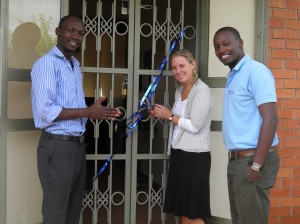 I had the honor of cutting the ribbon to the new office!