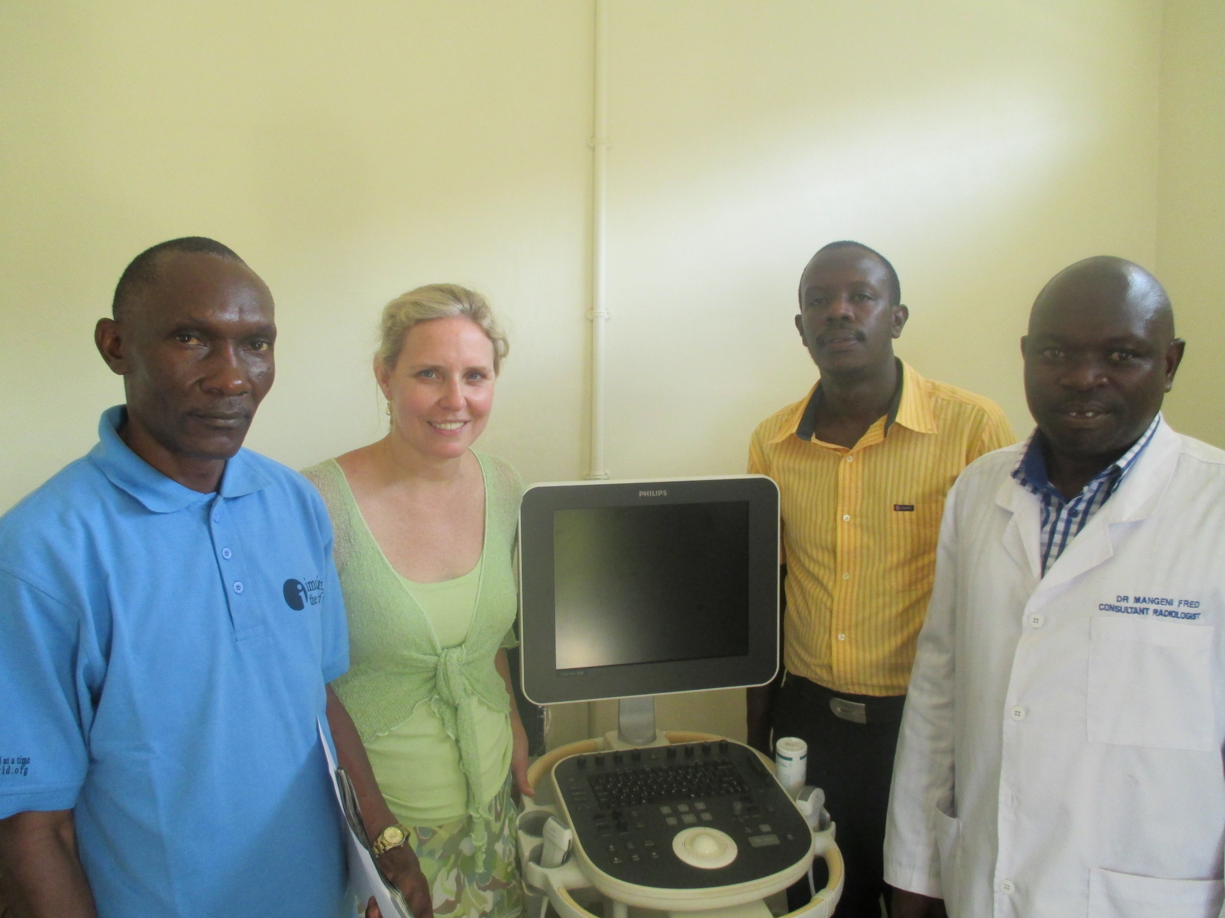 A new ultrasound machine for Mubende Hospital