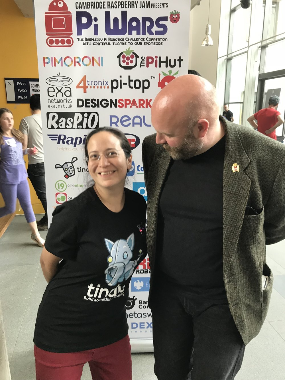 Jasmin & Dominic at Pi Wars