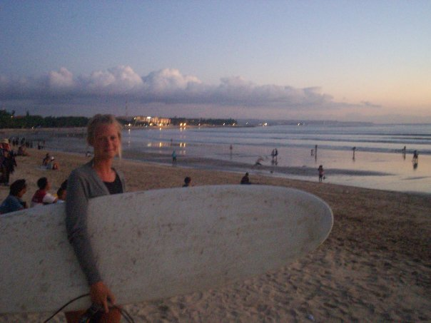 First picture with first surfboard (which I remember breaking) - Kuta beach, Bali back in 2008