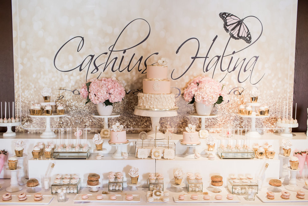 Cashius's Baptism Sweet Table