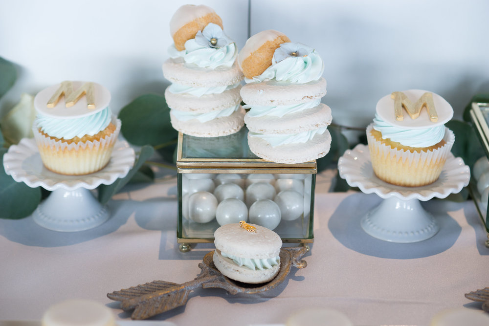 Marcus' Baptism Sweet Table