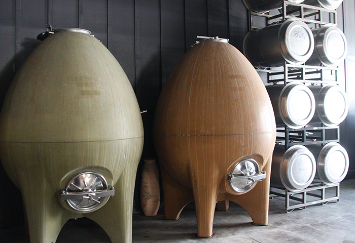 Pax Mahle uses cement eggs and small stainless steel casks to achieve greater expression of terroir in his wines.