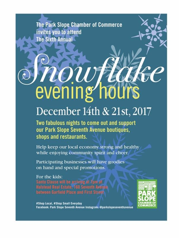Park Slope Snowflake Evening Hours