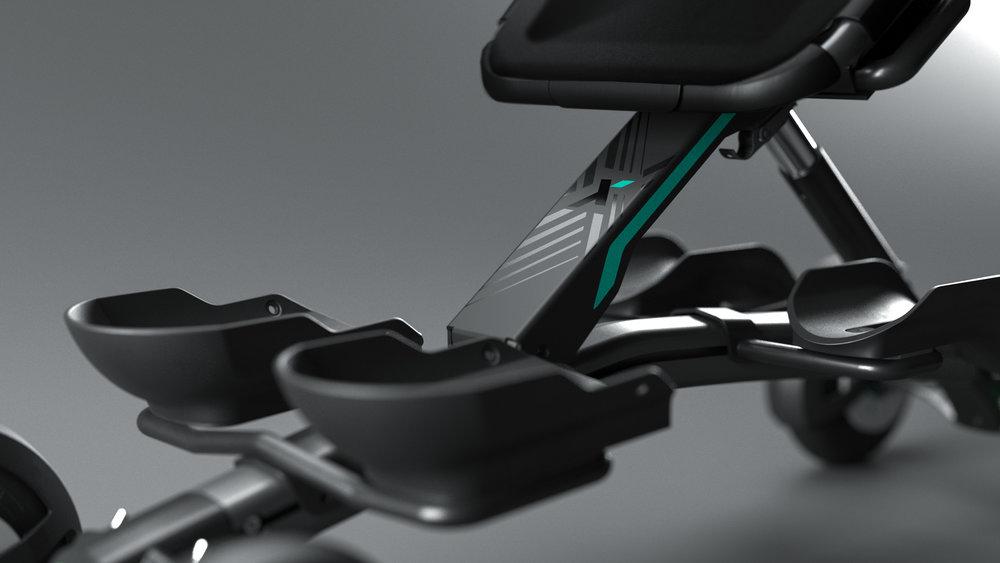 Enkel å håndtere - SPIKE er 116 cm lang og veier 12,5 kg. En elegant profil gir den et praktisk og sporty uttrykk. SPIKE er stødig og laget for røft terreng. Med styringsmekanismer er den enkel å håndtere på egenhånd.