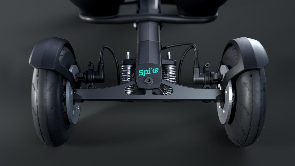 STYRINGSSYSTEM - Med Spike kan du styre samtidig som du skaper fremdrift. Om du har ujevn vektfordeling eller er sterkere på én side kan dette enkelt justeres for.
