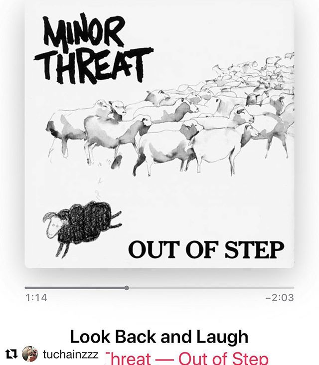 😎 #Repost @tuchainzzz . . . Possibly my favorite #minorthreat song. #lookbackandlaugh #outofstep #ianmackaye #hardcore #punk #dchardcore #straightedge