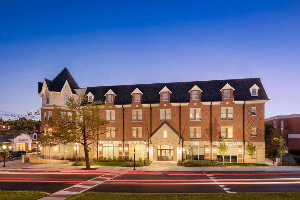 Connecticut Institute For Communities, Danbury, CT. Architectural design by Quisenberry Arcari Malik Architects and Studio Q Architecture.