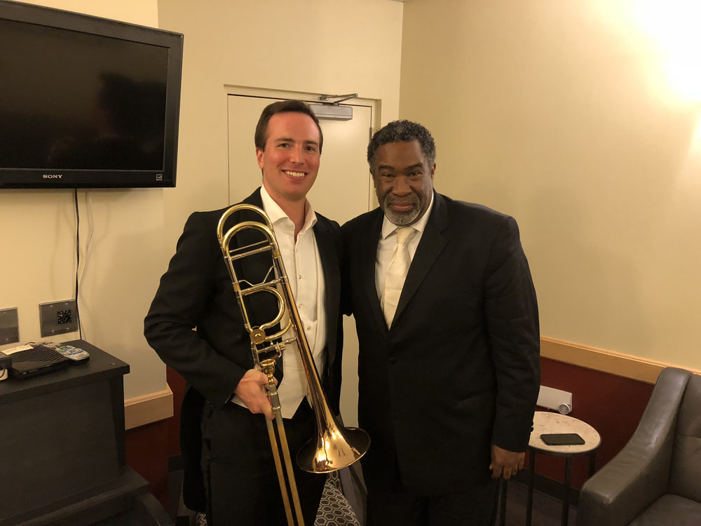 With Eric Owens after a performance of Mozart's Requiem