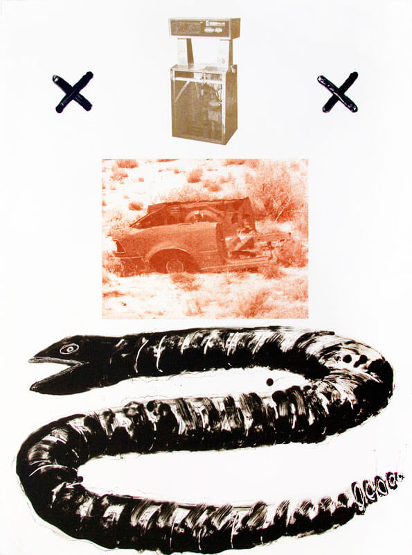 """Donate John Feodorov, Vanitas #4, A four-color lithograph on Rives BFK white. Paper size: 30"""" x 22 ¼"""". Image size: 30"""" x 22 ¼"""". Edition of 12. Collaborating printer Frank Janzen, TMP."""