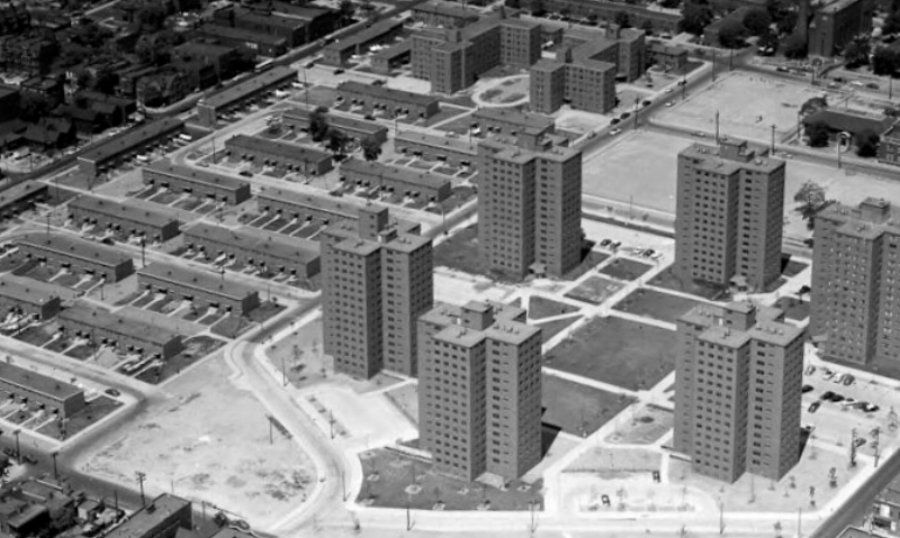 Image Description An Aerial View Of The Legendary Brewster Douglass Housing Projects In
