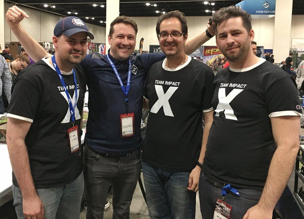 Team Impact with game designer Alex Davy