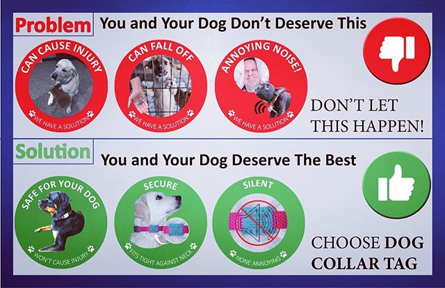 We are the solution to your old dog tag problems!! #durable #safe #silent #secure  #dog #dogs #fun #paw #paws #puppy #puppy #pet #petsupplies #doglover #cool