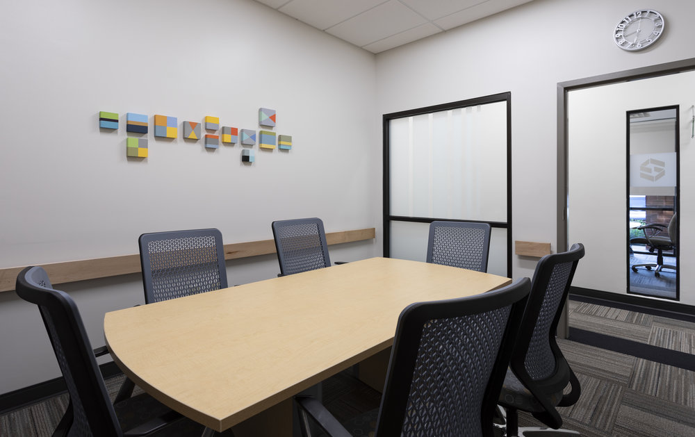 Corporate to Color. - Art & Light has teamed up with ScanSource to bring a bit of life and color to their conference rooms. When you have a happy and colorful place to work, you are more productive. ScanSourceCorporate Art Collection - Curated by Paige Caraway.Greenville, SC.