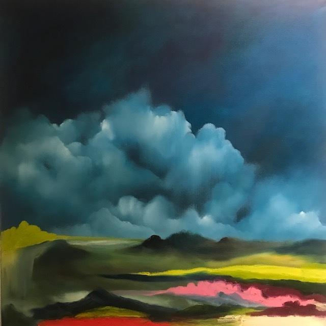 """Wild Green Valley"", Oil on Canvas, 30"" x 30"""