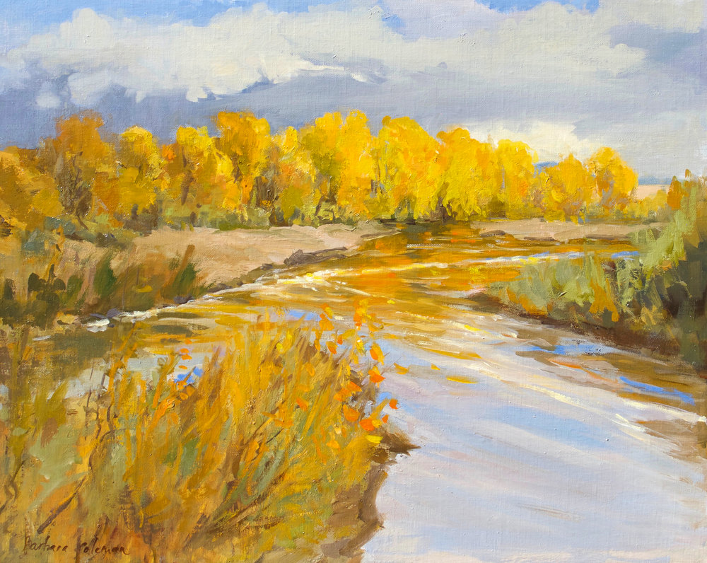 Copy of Many Miles (Rio Grande), 16x20, Oil