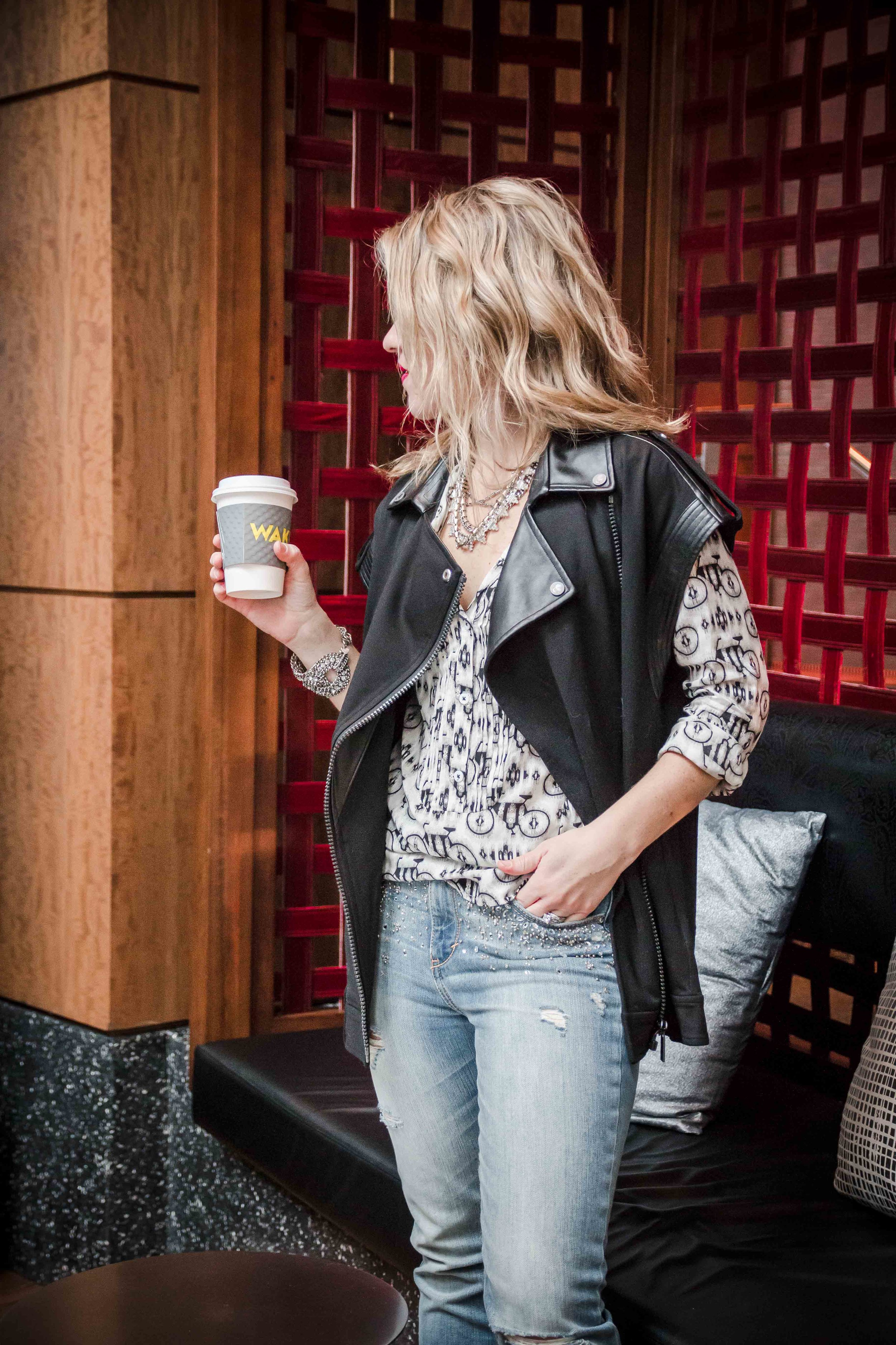 coffee and a vest