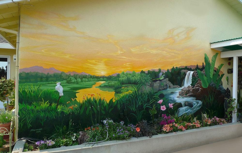 - Outdoor garden mural, residential, San Jose, CA