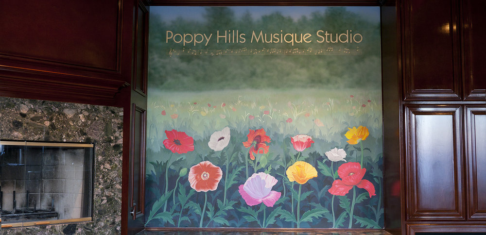 - Floral mural with lettering, Palo Alto, CA