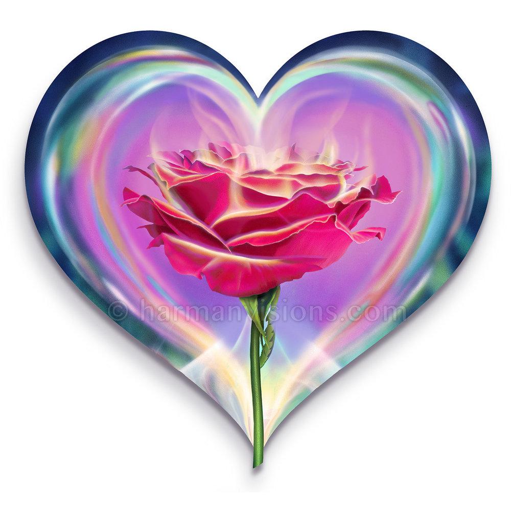 HEART ROSE heart