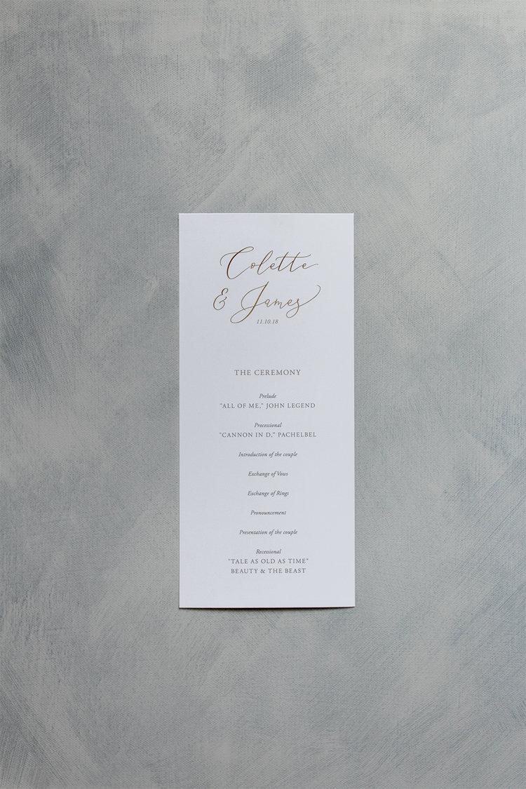 The Lavish | Wedding Program — Hall Creative Co.