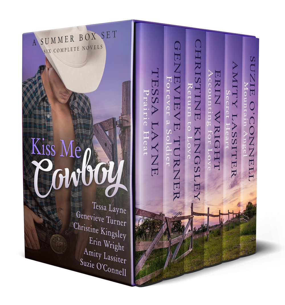 Kiss Me Cowboy: A Summer Box Set - Six Western Romance authors have joined up to support their favorite charity -- Heroes & Horses -- and offer you this sexy box set with Six Full Length Contemporary Cowboy Novels, filled with steamy kisses and Happy Endings. All Proceeds go to Heroes & Horses - Grab your copy and help an American Hero today!