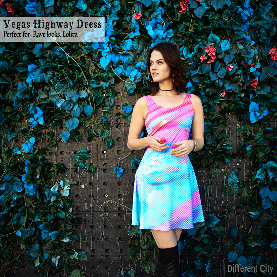 Vegas Highway Skater Dress