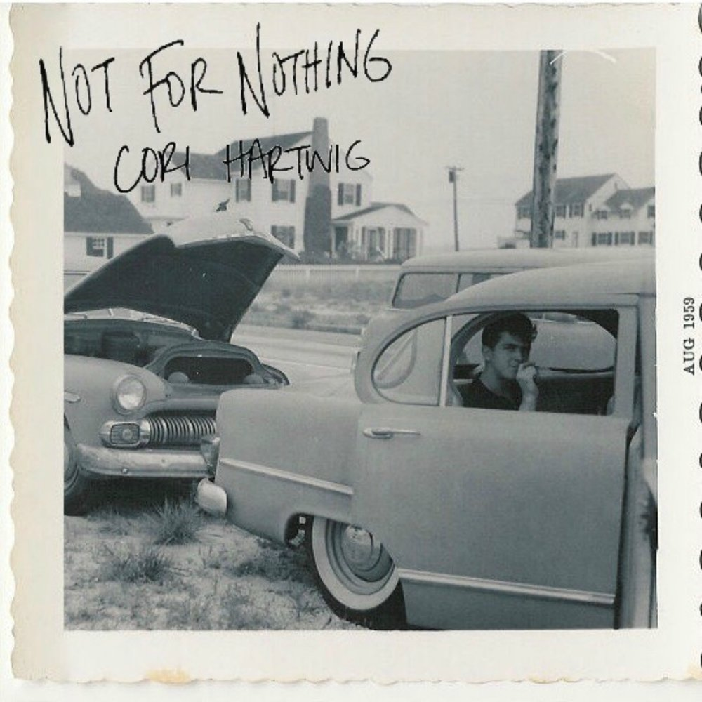 Not For Nothing  album cover, featuring a vintage photograph of my grandfather from August 1959.