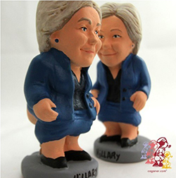 The Hillary Clinton Caganer