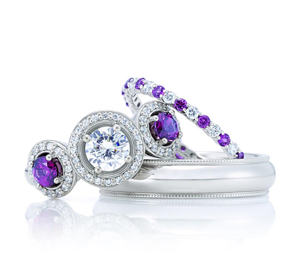 Diamond and Ruby wedding set.