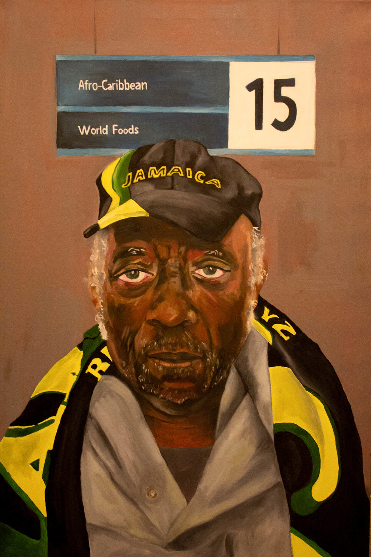"""Reparations 24""""x36"""" portrait oil painting 2018"""