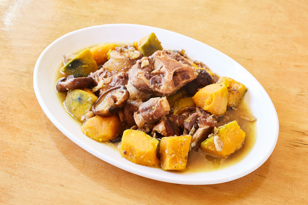 Oxtail Stew with Squash and Mushrooms