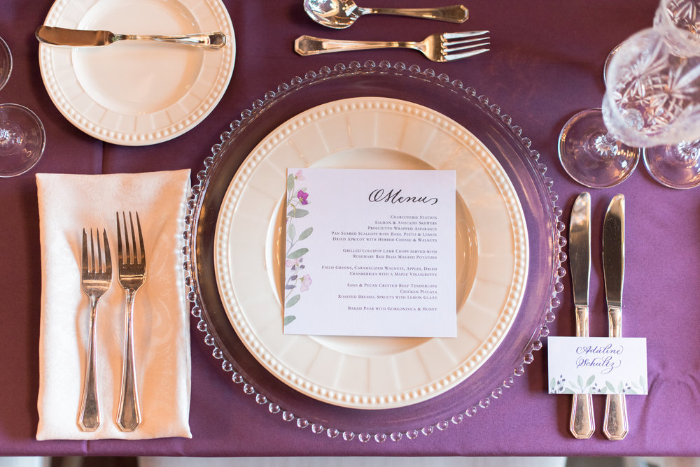 Menu design by Little Ivy Paper Goods    Photo by Molly and Victoria