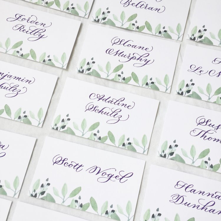 Watercolor design by Little Ivy Paper Goods