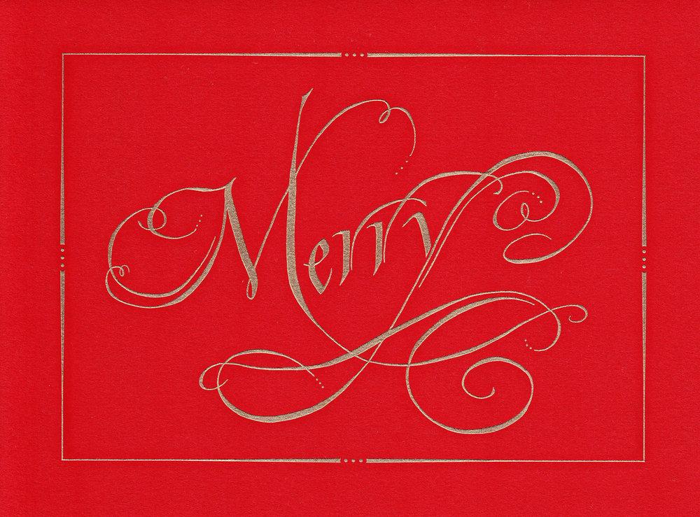 Christmas card designed for William Arthur