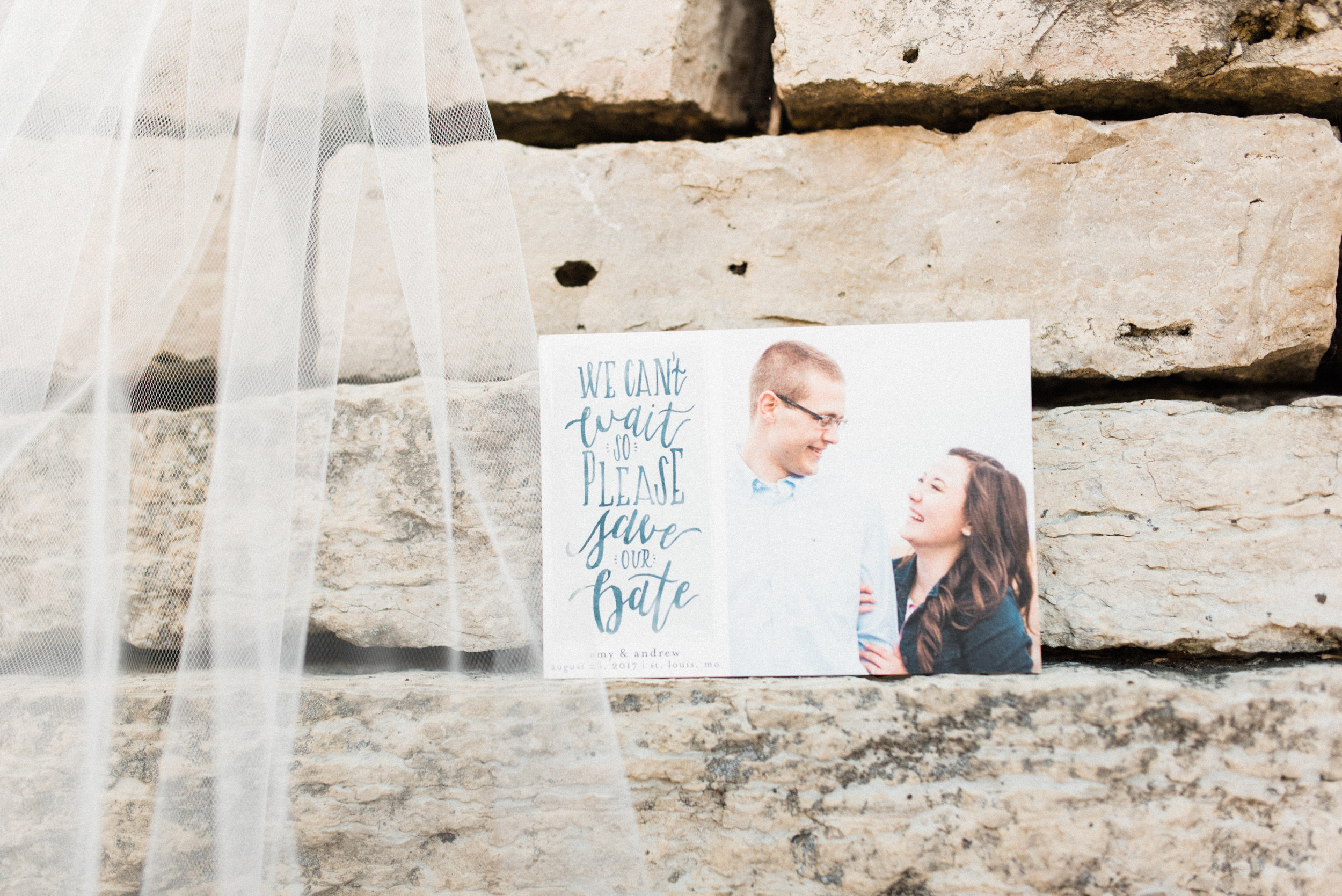 hand lettered save the date