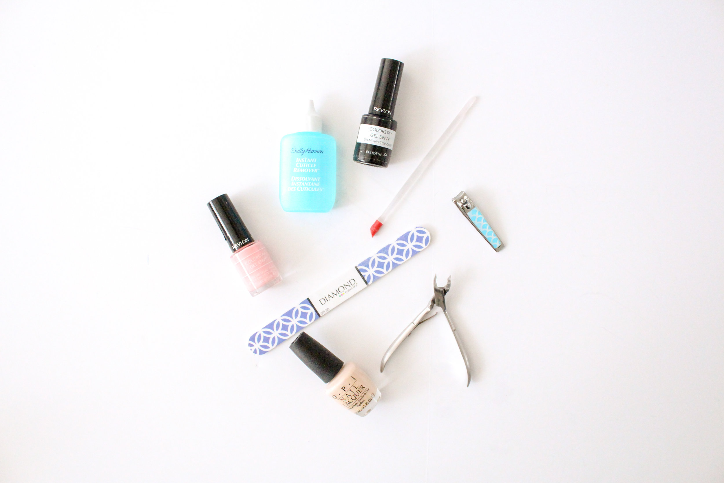 Self care box with manicure products