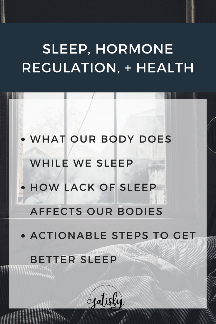sleep hormone regulation and health
