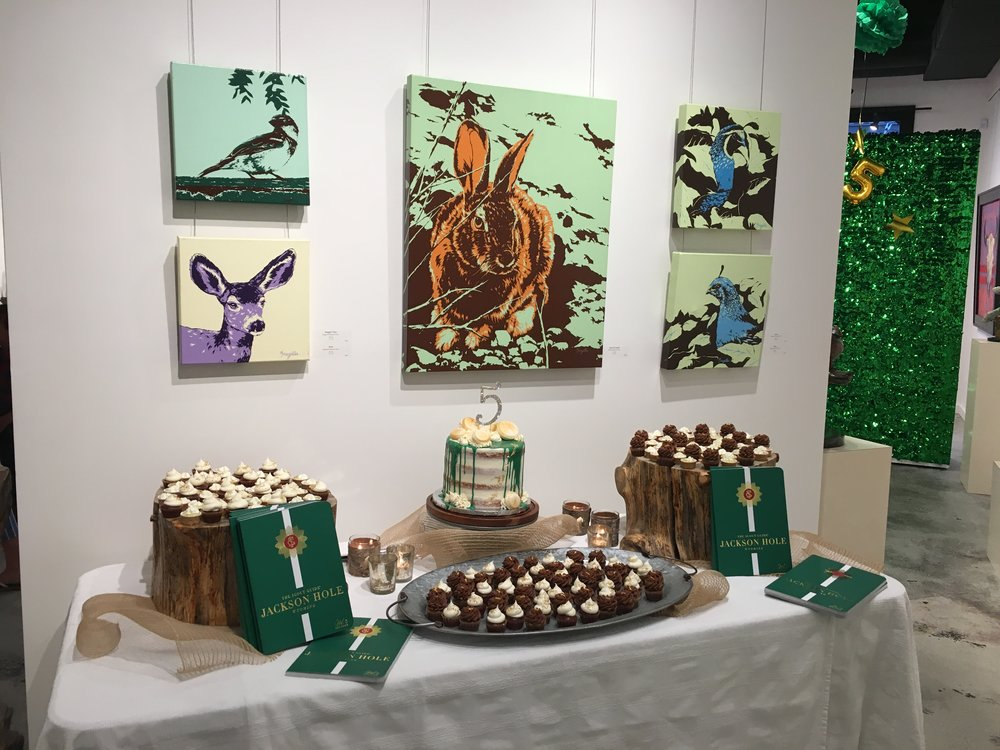There is something about combining great art and great food! The treats provided by Wild West Bakery were fantastic and definitely highlighted by the colorful works by Bregelle Whitworth Davis.