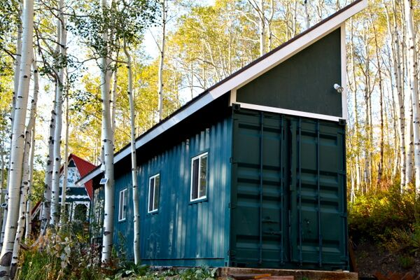 Bridgette's shipping container studio