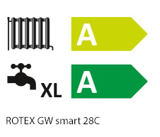 Energy efficiency label - All ROTEX products are tested and meet the criteria of the Ecodesign Directive. For both individual products and packaged solutions, energy labels are a reliable indicator of the precise efficiency class. Perfectly matched in terms of their individual components, our complete systems provide both maximum convenience and the highest safety standards.