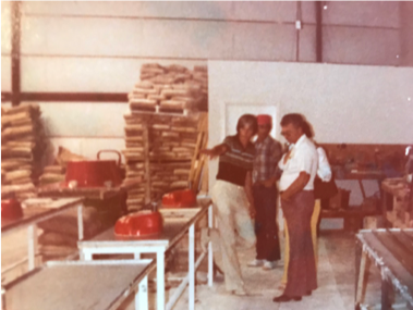 Gene Johnson gives a tour of his new facility, 1978.