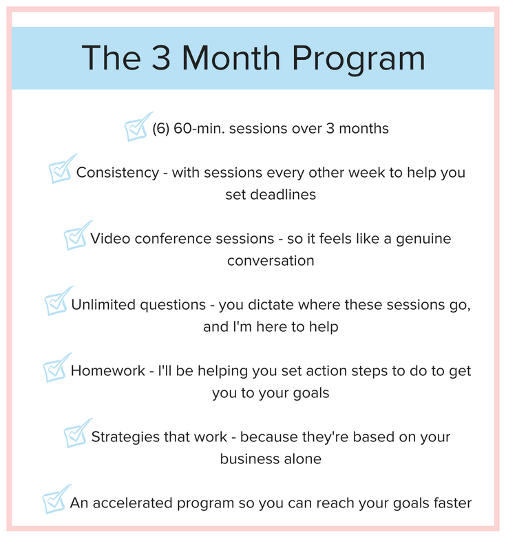 Coaching Program - 3 month