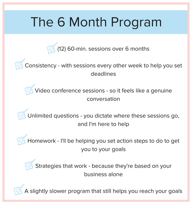 Coaching Program - 6 month